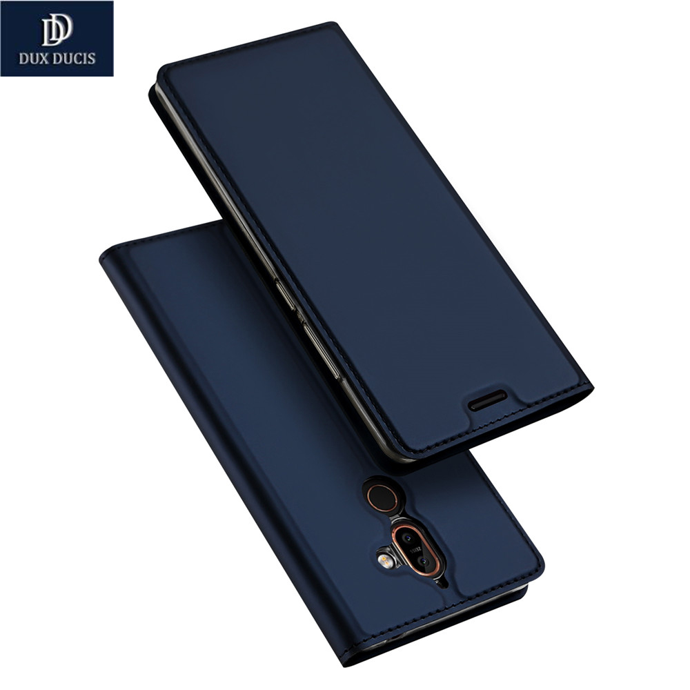 DUX DUCIS Brand For Nokia 7 Plus Luxury Case Luxury PU Leather Kickstand Flip Cover For Nokia7 Plus Phone Cases 6.0Inch