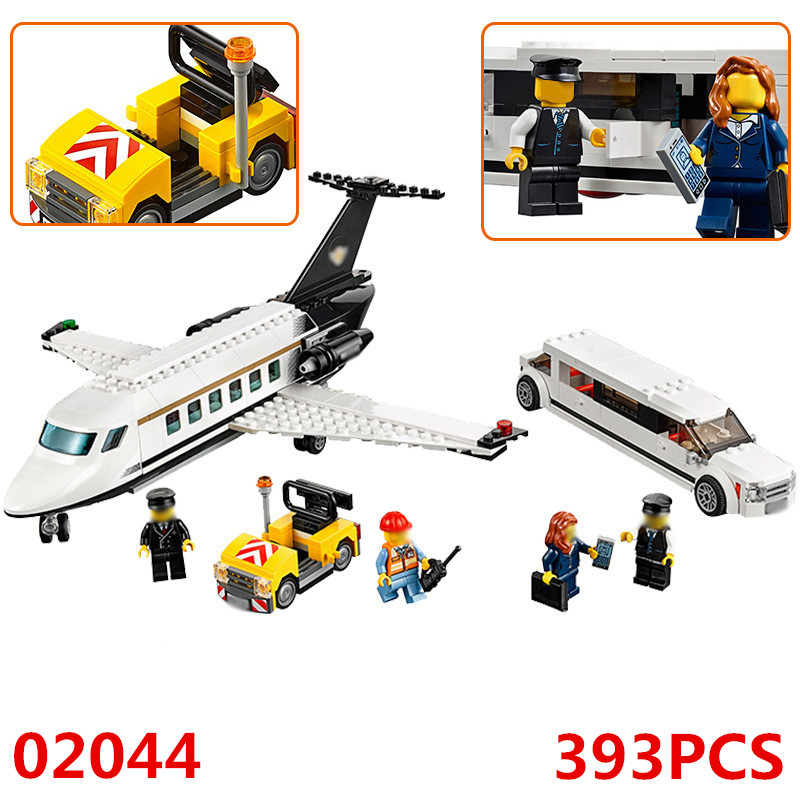 02044 Compatible With Lego 60102 City Airport Vip Service Private Plane Building Blocks Diy Model Bricks Educational Toys Toys & Hobbies Blocks