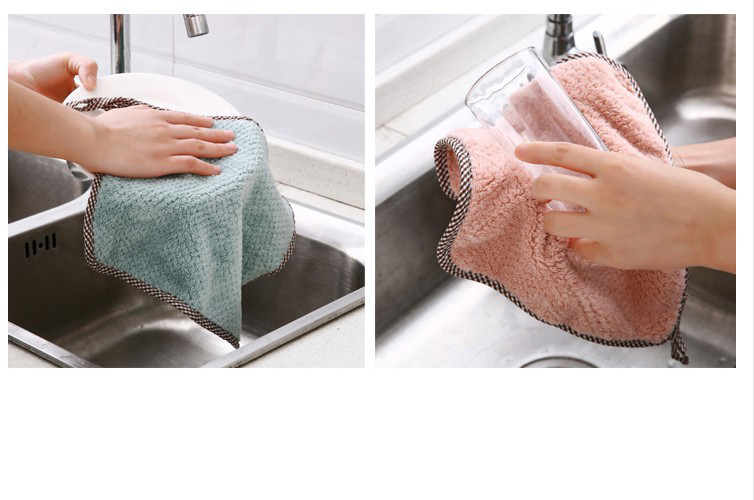 1pcs Kitchen Rag Microfiber Cleaning Cloth Hangable Dish Towel Dish Cloth tableware Household Cleaning Towel (10)