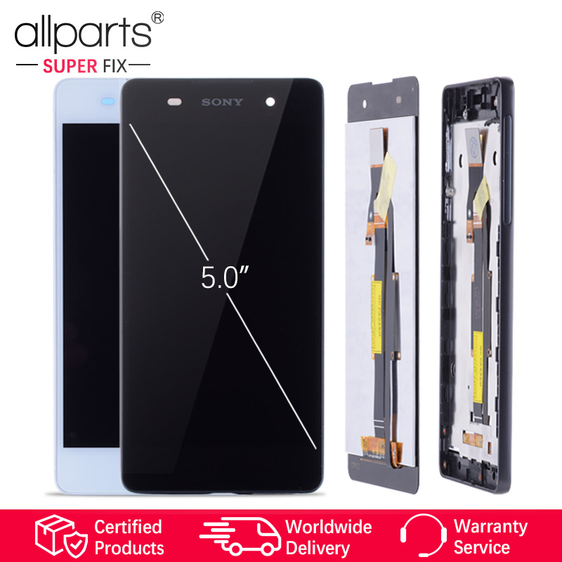 NUEVO Original pantalla para Sony Xperia E5 LCD Tactil Completa Display táctil Écran para SONY Xperia E5 F3311 F3313 pantalla LCD con marco Digitalizador reemplazo Negro Blanco