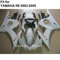 Motorcycle unpainted bodywork fairing kit for Yamaha YZFR6 2003 2004 2005 white fairings YZF R6 03 04 05 BC51