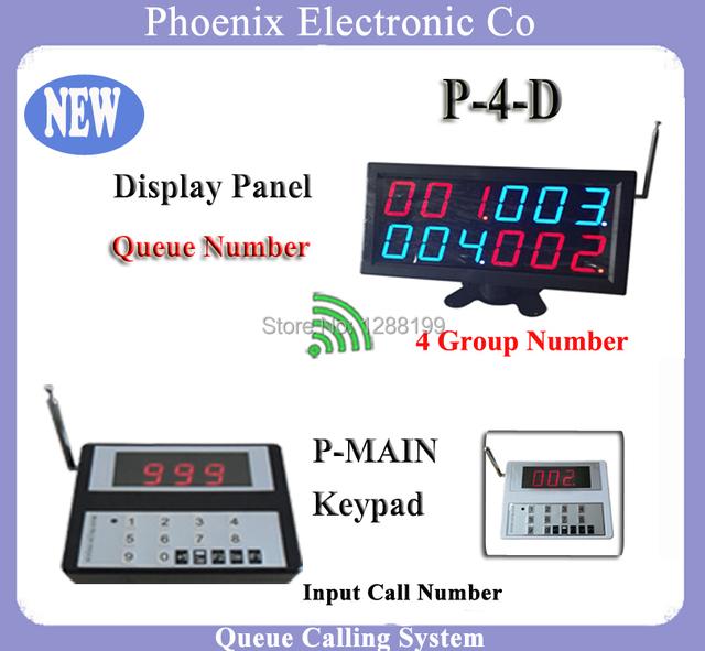 Garçom sistema de chamada Da Fila sem fio Para Equipamentos de Cozinha do Restaurante Quarto Com 1 P-Principal Botão de Bell & 1 pcs exibição P-4-D