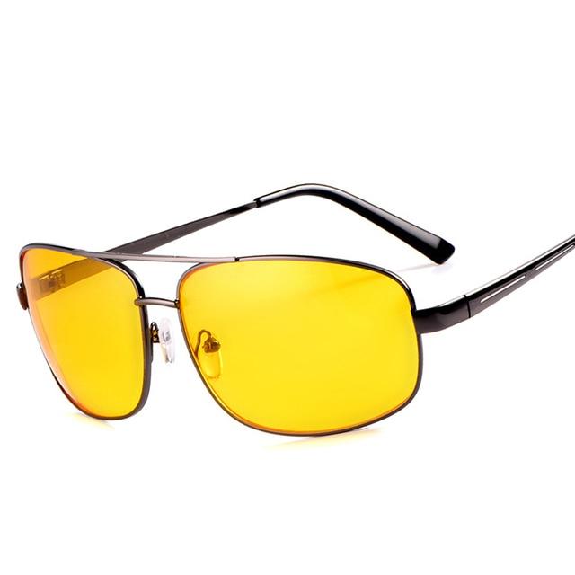 e3c26554b1d New Night Vision Glasses Men Driving Sunglasses Yellow Lens Classic Anti  Glare Vision Driver Eyewear Men Women Drop Shipping