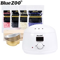 Pro Depilatory Wax Set Mini Electric Hair Removal Wax Heater Machine With Hard Wax Pellet And
