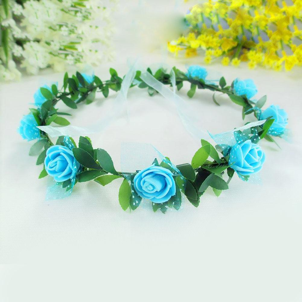 Buy blue flower crown and get free shipping on aliexpress izmirmasajfo Gallery