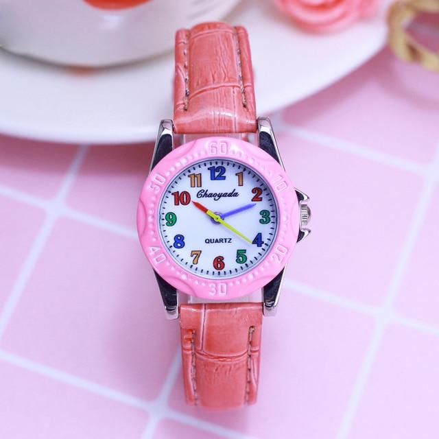 2018 children girls boys colorful digital quartz wristwatches students little ki