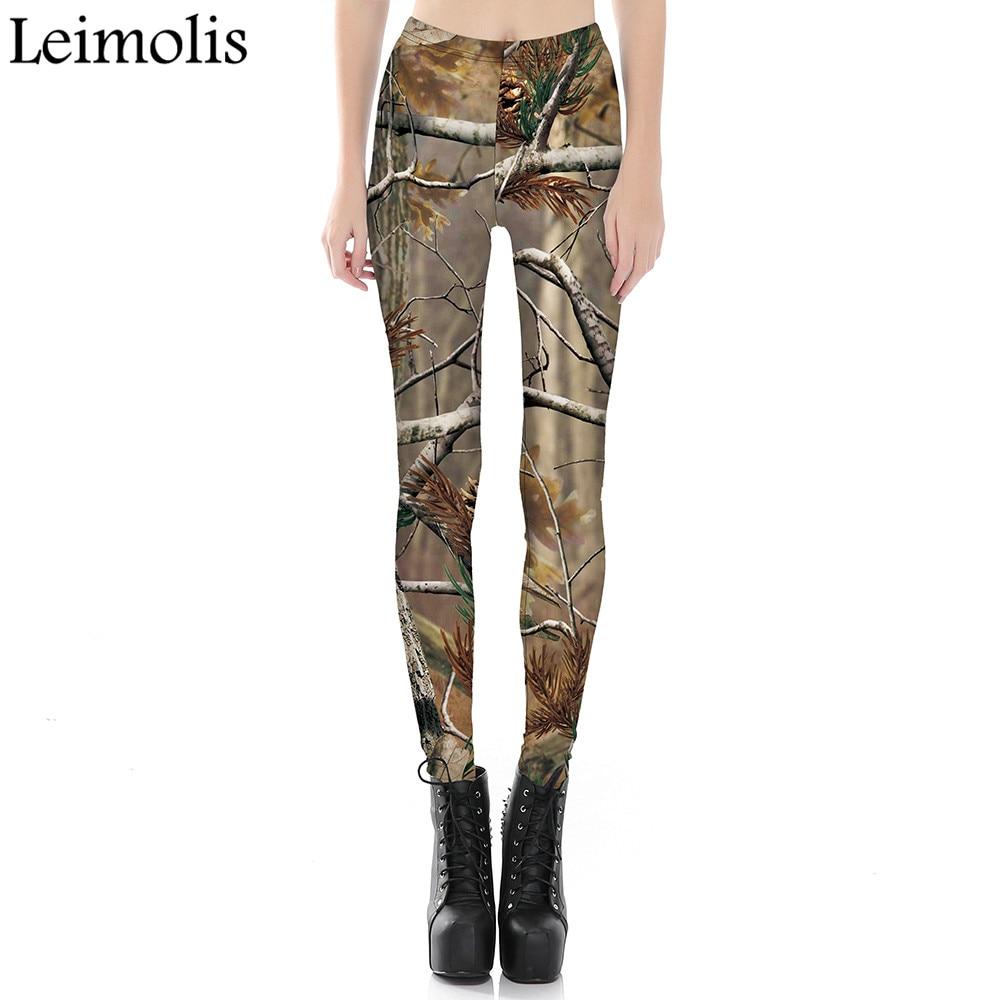 Leimolis 3D Printed Fitness Push Up Workout Leggings Women Gothic Desolate Forest Plus Size High Waist Punk Rock Pants