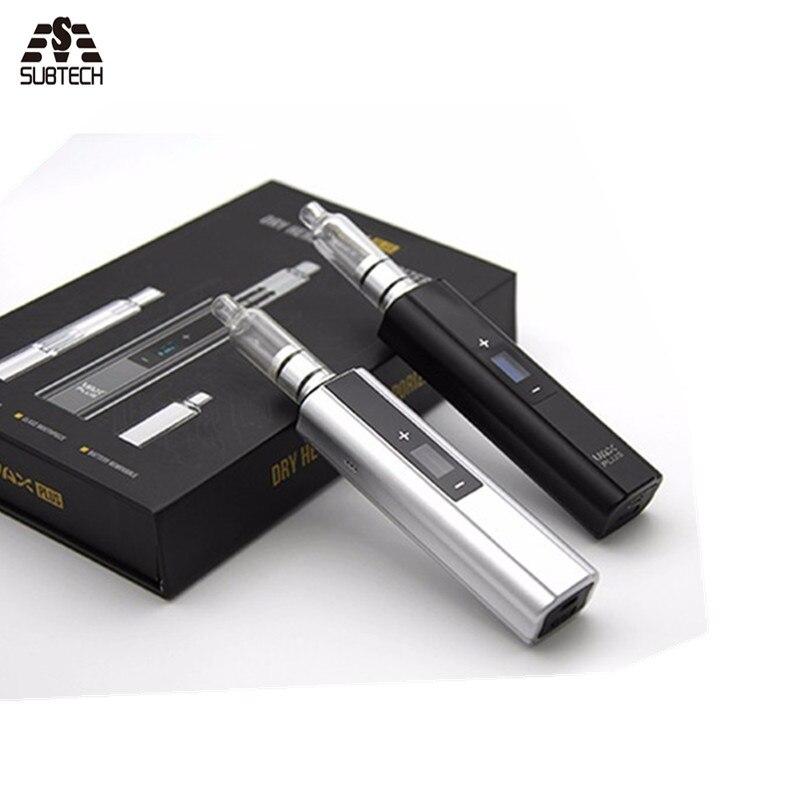 Le plus nouveau Vax plus herbe sèche et vaporisateur de cire 3000 mah batterie OLED affichage TC cigarette électronique avec tuyau d'eau fumer vape