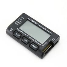 G.T.Power 1-7S LCD Digital RC Battery Voltage Capacity Meter Checker Tester for RC Car LiPo Li-ion NiMH Nicd Battery(China)