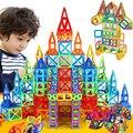 Мини 166 шт. Магнитный Конструктор Construction Set Модели и Строительство Игрушки Пластиковые Образовательные Магнитные Игрушки Блоки Для Детей