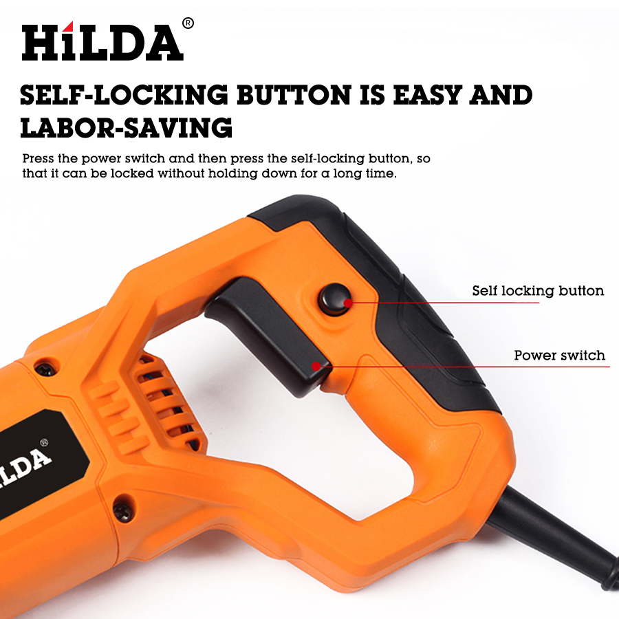 Image 2 - HILDA Electric Saw Reciprocating Saw for Wood Metal Plasitic Pipe Cutting Power Saw Tool with Saw Blades-in Electric Saws from Tools on