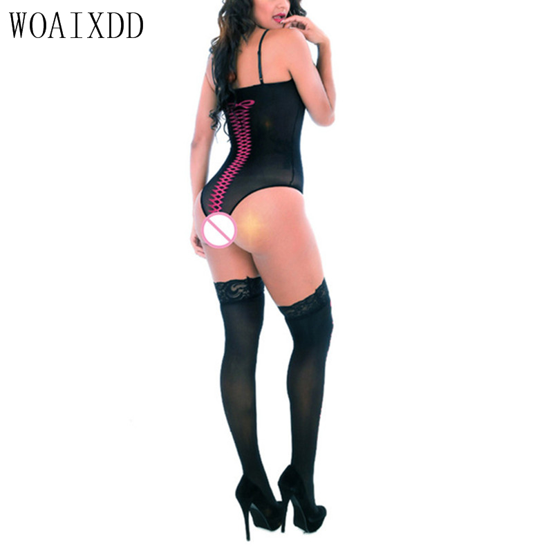 Buy Lingerie Hot sexy lingerie Sexy Sock Noverty print langerie WOAIXDD sexy underwear erotic lingerie lenceria sexy costumes