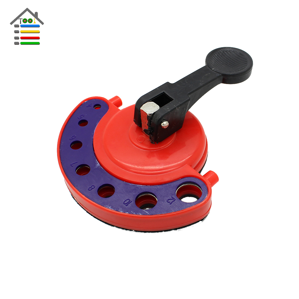 Tile Glass Ceramic Drill Hole Saw Guide Jig Fixture Openings Locator With Vacuum Base Sucker Fit 4-12mm Diamond Drill Bit