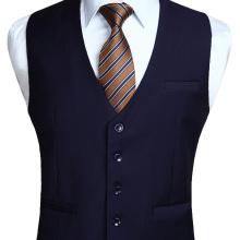 Мужская Свадебная деловая формальная одежда жилет Костюм приталенный Повседневный смокинг жилет Модный сплошной цвет