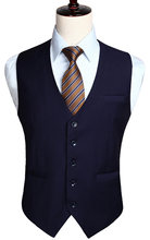 Men's Wedding Business Formal Dress Vest Suit Slim Fit Casual Tuxedo Waistcoat Fashion Solid Color(China)