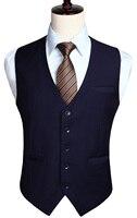 Men's Wedding Business Formal Dress Vest Suit Slim Fit Casual Tuxedo Waistcoat Fashion Solid Color