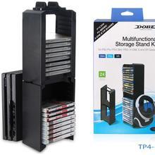 Высокое Качество Многофункциональная подставка для хранения Набор 24 шт. игровые диски сиденья для PS4 Pro/PS4 Slim/PS4/X-ONE S/VR держатель для очков