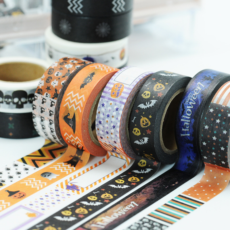 (5 pieces/lot) Halloween Washi Tape Cute Decoration Scrapbooking Tape Paper Masking Tape 5 pieces lot 30021 to263