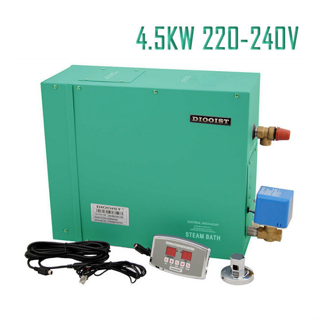 Free shipping 4.5KW 220-240V Steam Bath Generator For HOME SPA Germany type Electrical auto. drain With ST-135A controllerFree shipping 4.5KW 220-240V Steam Bath Generator For HOME SPA Germany type Electrical auto. drain With ST-135A controller