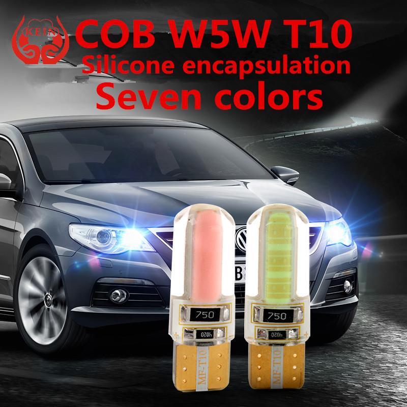 KEIN 1pcs New Car LED T10 194 W5W COB Silicone shell LED Lights Car Side Wedge