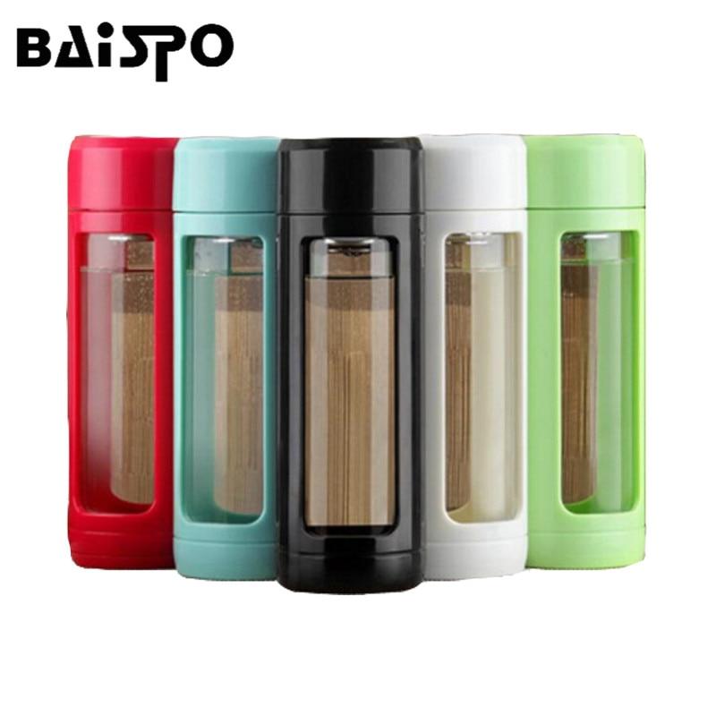 BAISPO Sealed auslaufsicheres Glas Wasserflasche Tee meine - Küche, Essen und Bar - Foto 1