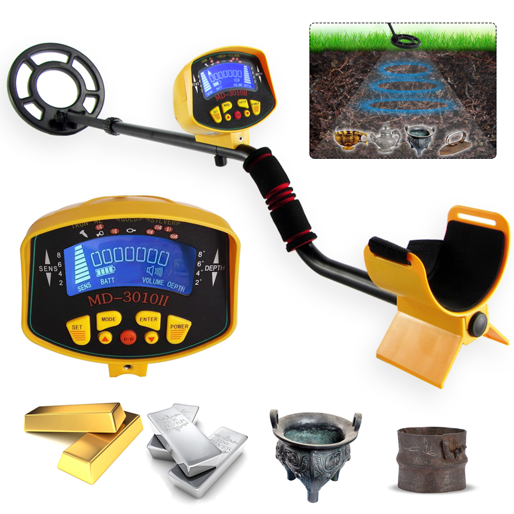 Professional Metal Detector Underground Waterproof Search Coil Gold Coin Digger Finder Detector Treasure Hunter Tool LCD DisplayProfessional Metal Detector Underground Waterproof Search Coil Gold Coin Digger Finder Detector Treasure Hunter Tool LCD Display