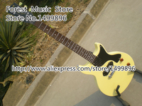 New Arrival 2015 Junior Single Cut L P Model Electric Guitar With One P 90 Style Pickup In Milk Yellow