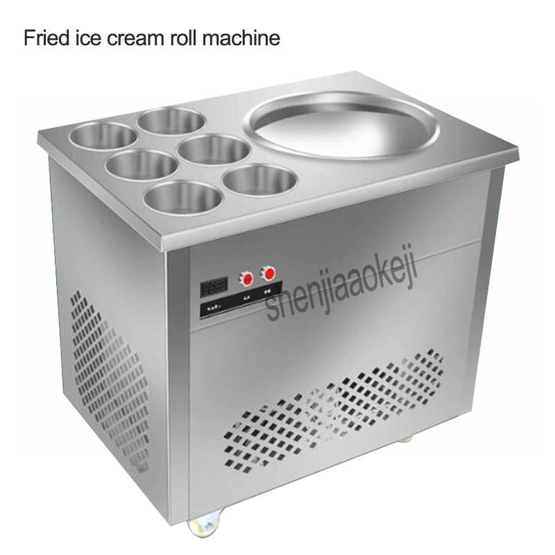 цена на Stainless steel One Pan Fried ice cream roll machine pan Fry flat ice cream maker yoghourt fried ice cream machine HX-CBJ-22 1pc