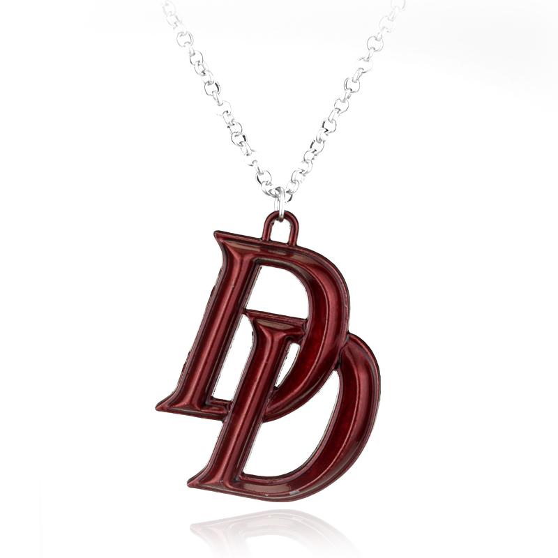 DC Comics Daredevil Double D Pendant Necklace Cosplay Red image