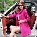 2016 Outono Alta Qualidade Moda Bainha Longa blusão mulheres Trench Coat Feminino das Mulheres Carreira QY13030618 windcheater capa de Chuva