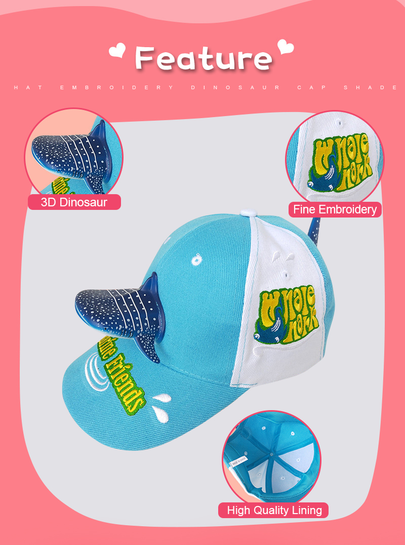a39688ec77f Shark Sea Animal Baseball Cap Cute Cartoon Whale Parent-Child Travel Child  Hat Christmas New Year Gift Visor Women And Men Hat