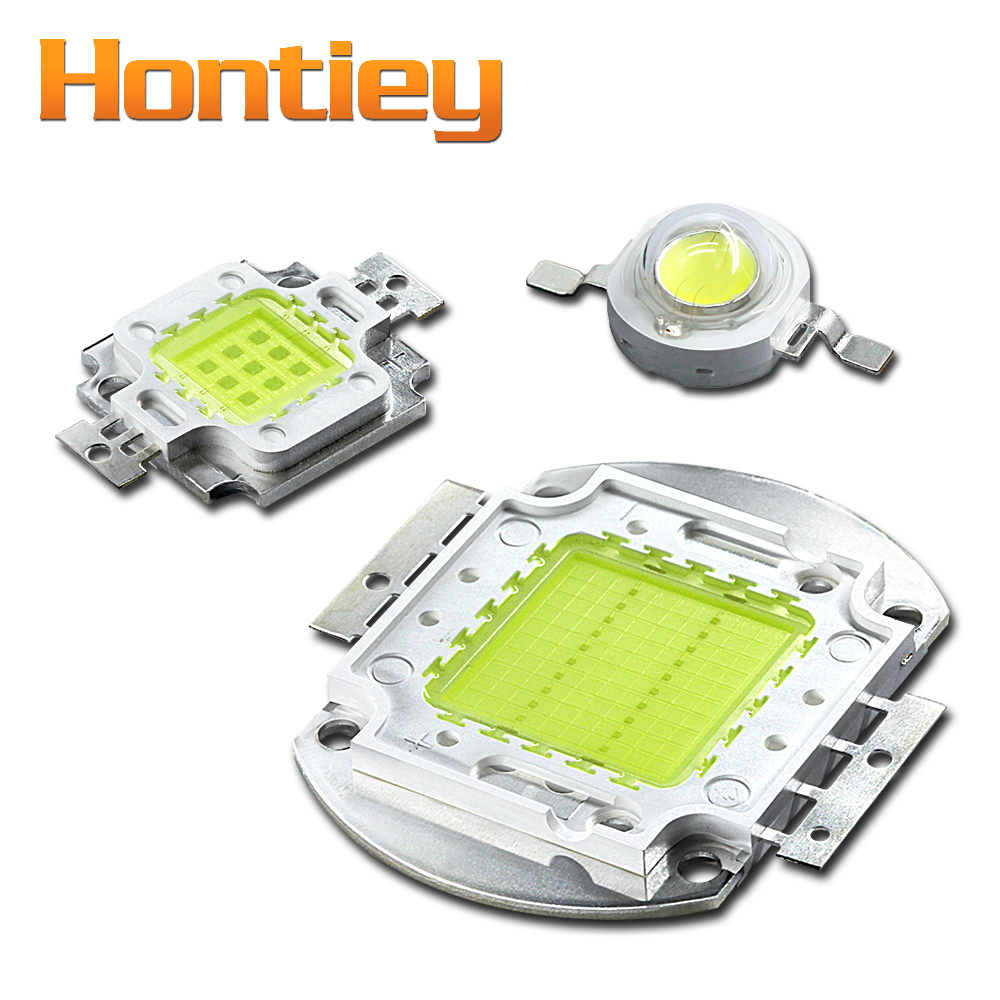 Hontiey Cool/Cold White light 10000K/20000K/30000K 1W 3W 5W 10W 20W 30W 50W 100W High Power LED Lamp Epistar chip COB integrated