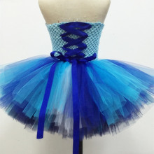 New Arrival Queen Elsa Tutu Dress Princess Party Fancy Tulle Dress Christmas Halloween Costume Kids Birthday Pageant Dresses