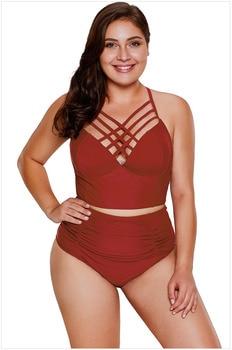 2019 Explosions Sling Neck Size Solid Color Split Swimsuit rompers womens jumpsuit sexy bodysuit plus size sexy jumpsuit XX016 1