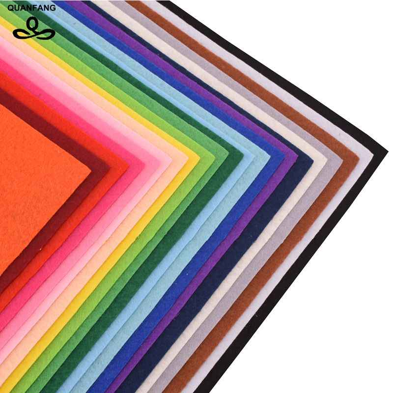 QUANFANG سمك 1 مللي متر مزيج 22 قطعة/الوحدة 40x45 سنتيمتر قماش من البولستر القماش ل المرقعة DIY اليدوية الخياطة المنزل ديكور المواد