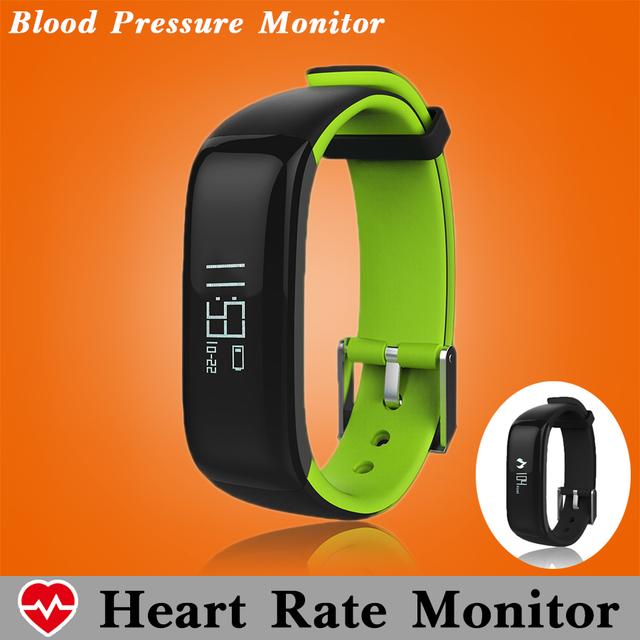 Pressão arterial monitor de freqüência cardíaca pulseira de fitness rastreador pedômetro pulseira inteligente mergulho banda inteligente smartband pk xiaomi mi banda