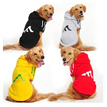 Pet Dog Cotton Clothes For Large Dogs Winter Coat Hoodies Jackets Sportswear T-shirt Sweaters For Labrador Retriever 2XL-9XL