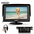 "CARCHET Car LCD Monitor 4.3"" TFT Car Rear View Reverse Monitor + Wireless Transmitter + 7 LED IR Night Vision Camera DC 12V"