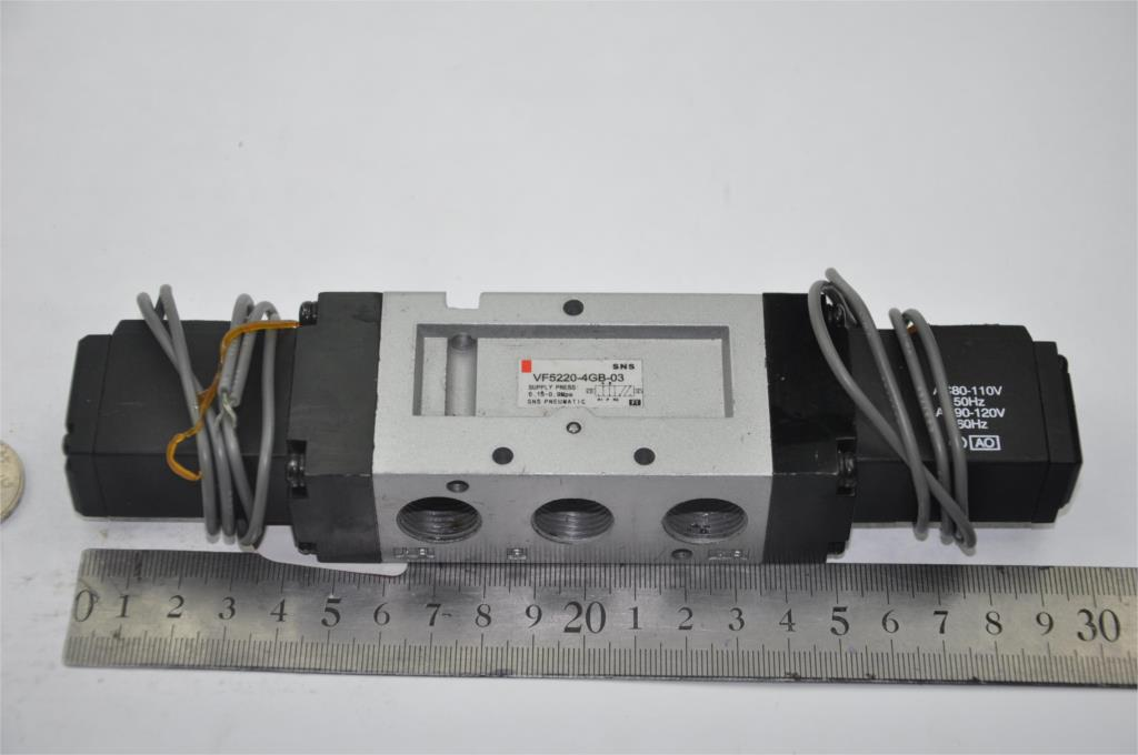 Solenoid  magenetically  air pneumatic valve VF5220-4GB-03 3/8BSPT SMC type AC220V 2/5WAY cable outgoing directly double coil smc type pneumatic solenoid valve sy5220 3gd 01