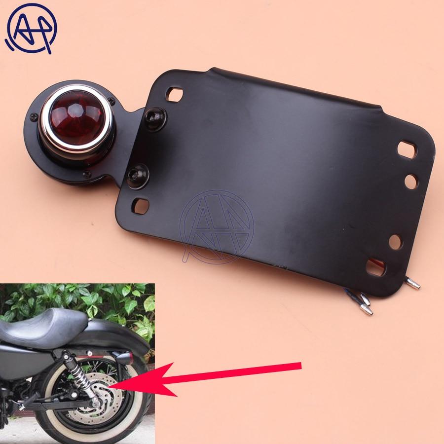 Plaque d'immatriculation modèle verticale incurvée à montage latéral pour moto, support de trou de 3/4