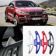 купить tommia For BMW X6 M 2010-2014 2pcs Steering Wheel Aluminum Shift Paddle Shifter Extension Car-styling дешево