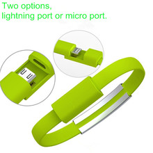 Mobile Phone Micro USB Cable Wristband Bracelet Data Sync Charge Cables Wristband For Samsung Xiaomi HTC