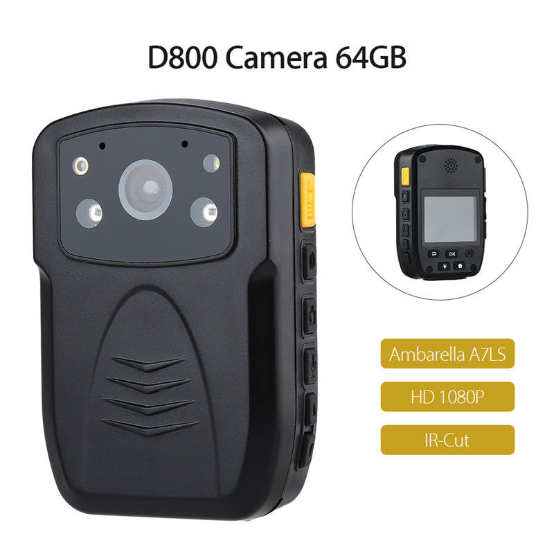 Free Shipping!Original D800 Full HD 1080P Body Worn Police IR Night Vision 64GB Police Camera Police Body Camera original thomastik vision solo vis100 4 4 violin strings full set med alum d made in austria free shipping