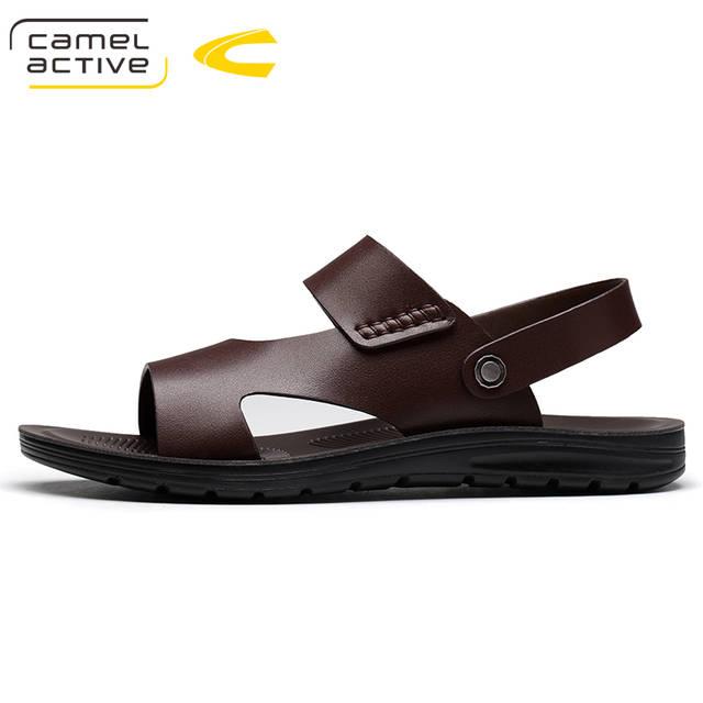 e61e0707cc5bb Online Shop Camel Active Men Sandals PU Leather Men Beach Sandals Brand Men  Casual Shoes Flip Flops Men Slippers Sneakers Summer Shoes 18101