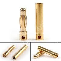Areias loja 4 Milímetros Banana Plug Jack Pin Conector bala De Cobre Para A bateria DE Rc motor 40 pares + Masculino femal|copper connector|4 pin male|l connector -