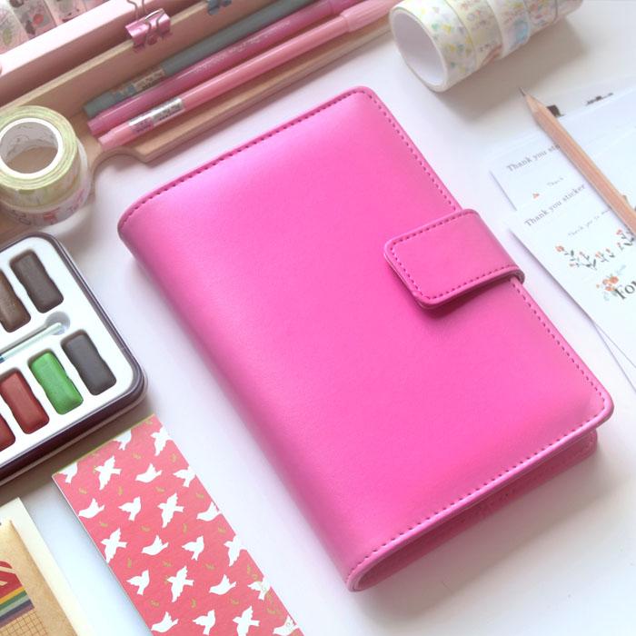 Macaron A6 Spiral Notebook loose leaf Cute Planner Organizer Pink Rose Red Blue Purple Notebook эксмо мечтай 8 е изд