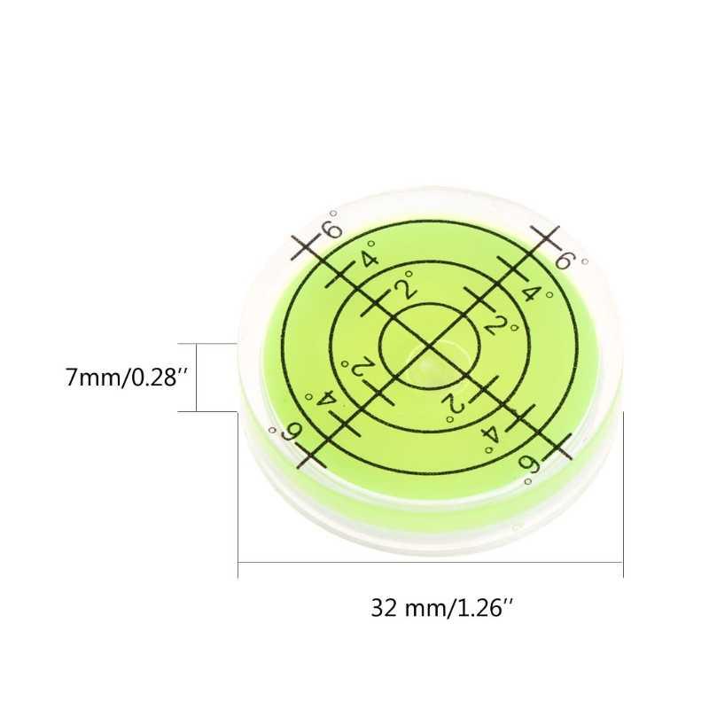 ANENG 32x7 مللي متر بولز العين فقاعة درجة ملحوظ سطح مستوى الكحول للكاميرا دائرية