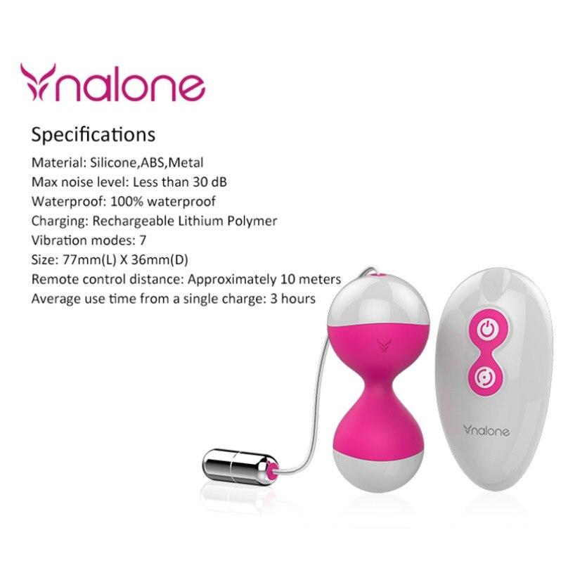 Nalone 7 Kinds Vibration Silicone vaginal Balls Remote Control Vibrator,Love Ben Wa Balls Wireless Vibrator,Kegel Balls Sex Toy nalone wireless 7 speed silicone