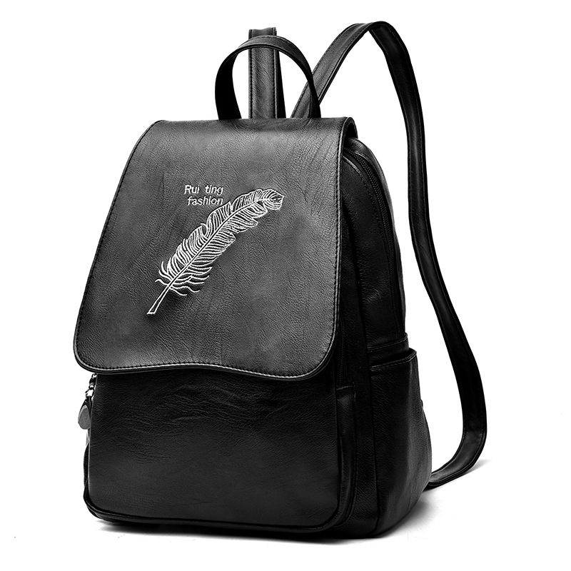 Fashion Korean style of fashion female backpack students rdgguh backpack bag new of female backpack autumn and winter new students fashion casual korean backpack
