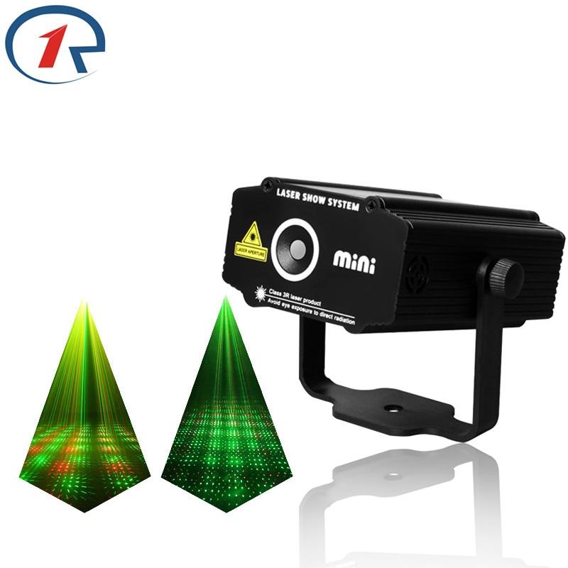 ZjRight Red Green Meteor Laser Light Sound control projection laser stage light gala party effect lights bar ktv dj disco light цена